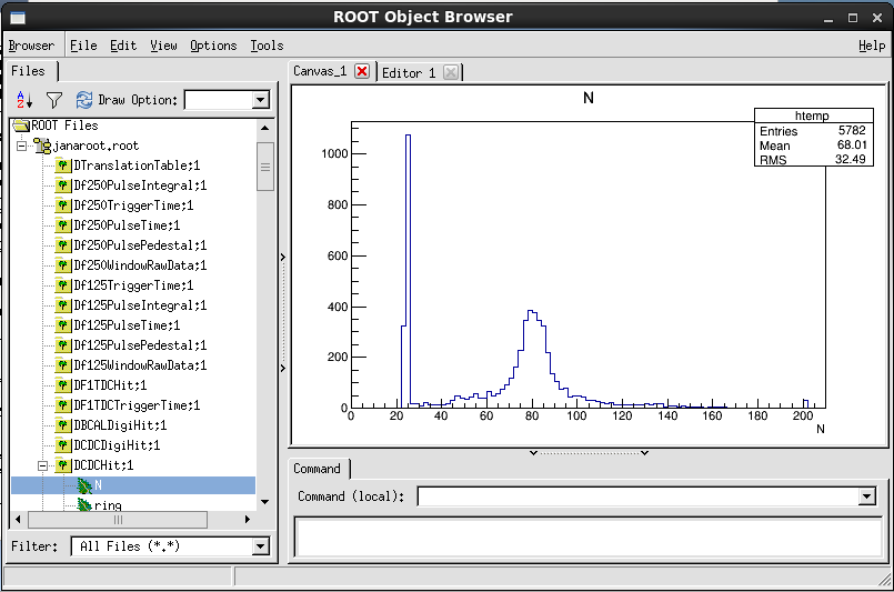 HOWTO create a ROOT tree of detector hits and display event data